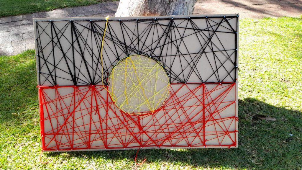 Woven Aboriginal flag